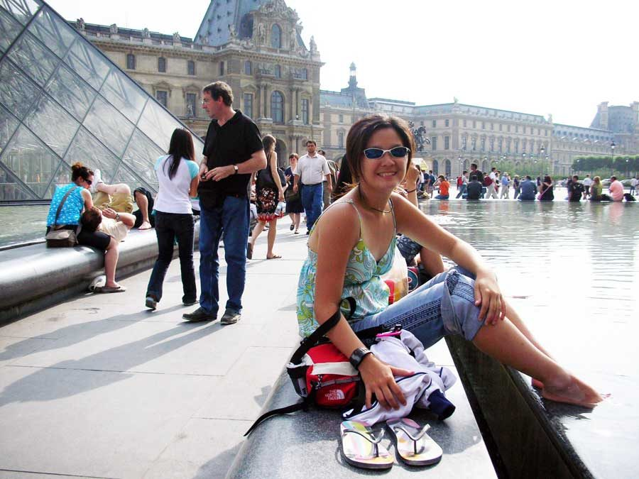 France Paris Louvre Water Me
