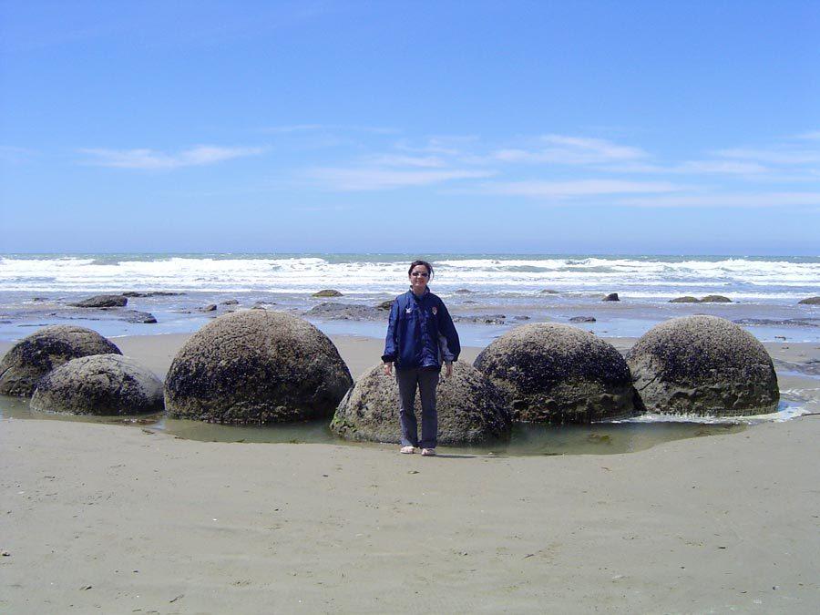 New Zealand Otago Moeraki Boulders Me