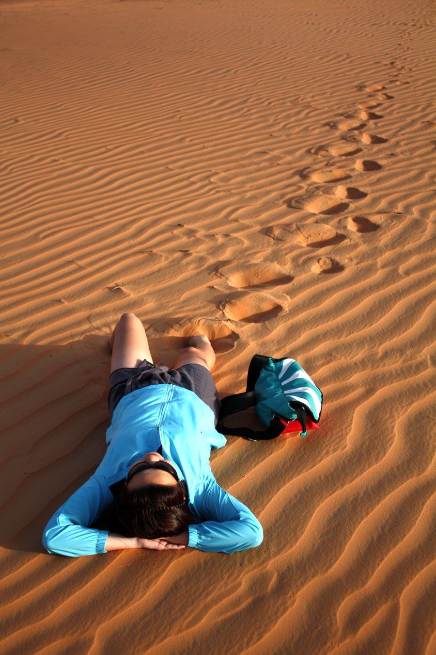 Qasr Al Sarab Desert Me Lying Down