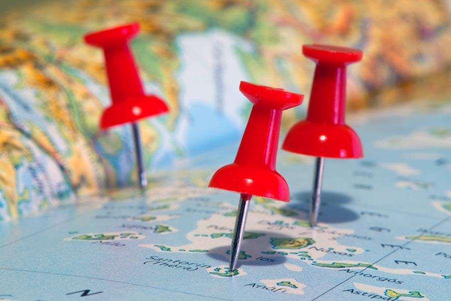 Trip Planning Map Pins