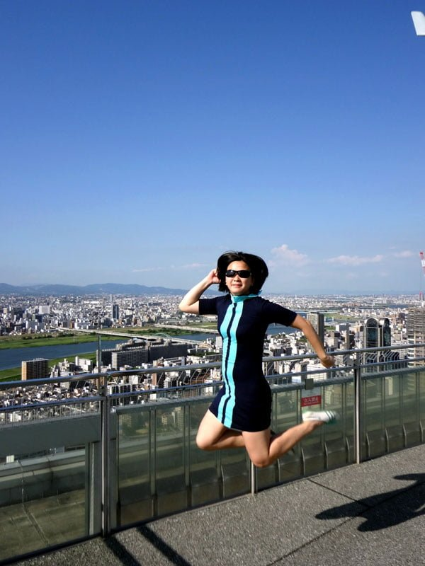 Osaka - Umeda Sky Building Rooftop jumpshot