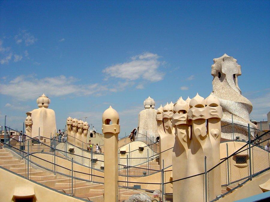 Barcelona La Pedrera Roof Espai Gaudi