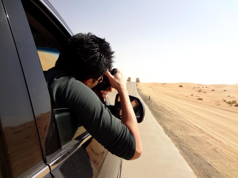 Qasr Al Sarab Entrance Gate Photographer