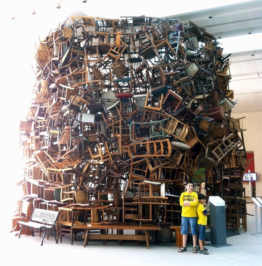Abu Dhabi Saadiyat Island Art Chairs