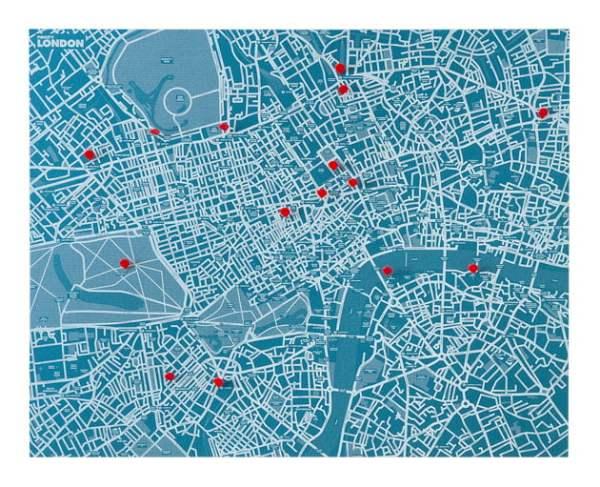 Pinmap PinCity London
