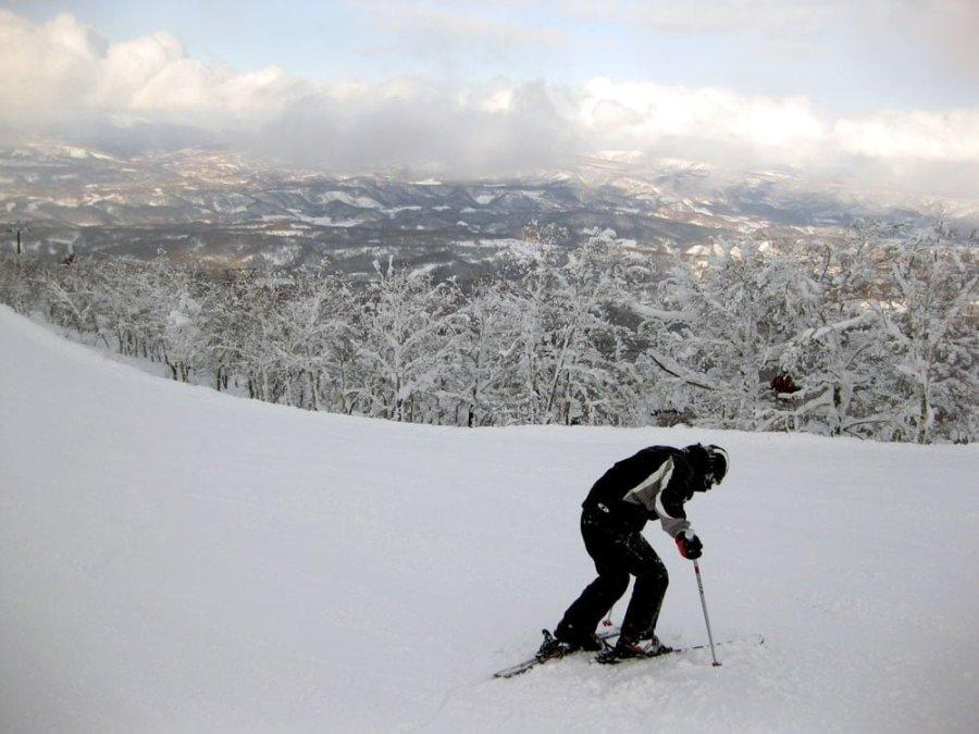 Japan Hokkaido Rusutsu Me Skiing Fail