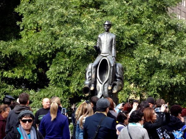 Prague Kafka statue