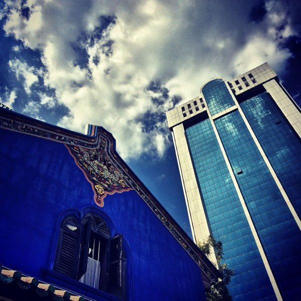 Penang Sights - Blue Mansion Juxaposition