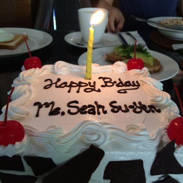 Bali The Villas Birthday Cake