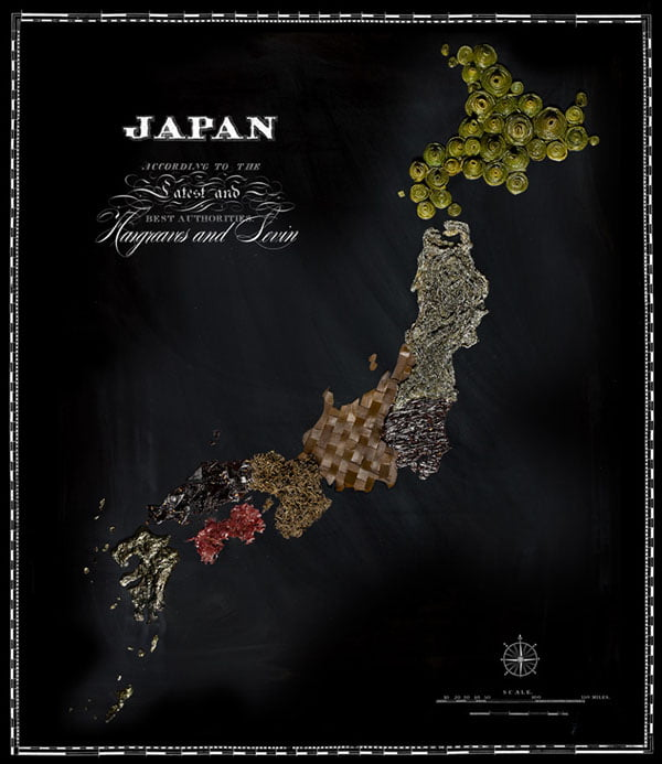 Food Maps by Henry Hargreaves and Caitlin Levin - Japan