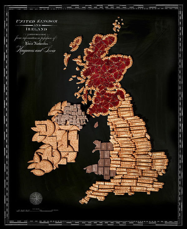 Food Maps by Henry Hargreaves and Caitlin Levin - UK