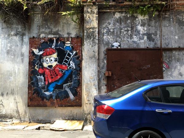 Penang Street Art - Gat Lebuh Chulia Chinese Minion