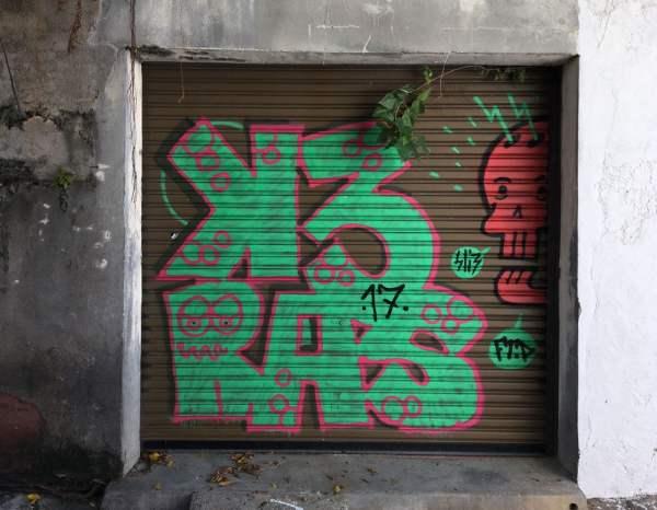 Penang Street Art Lorong Lumut Graffiti Shutter