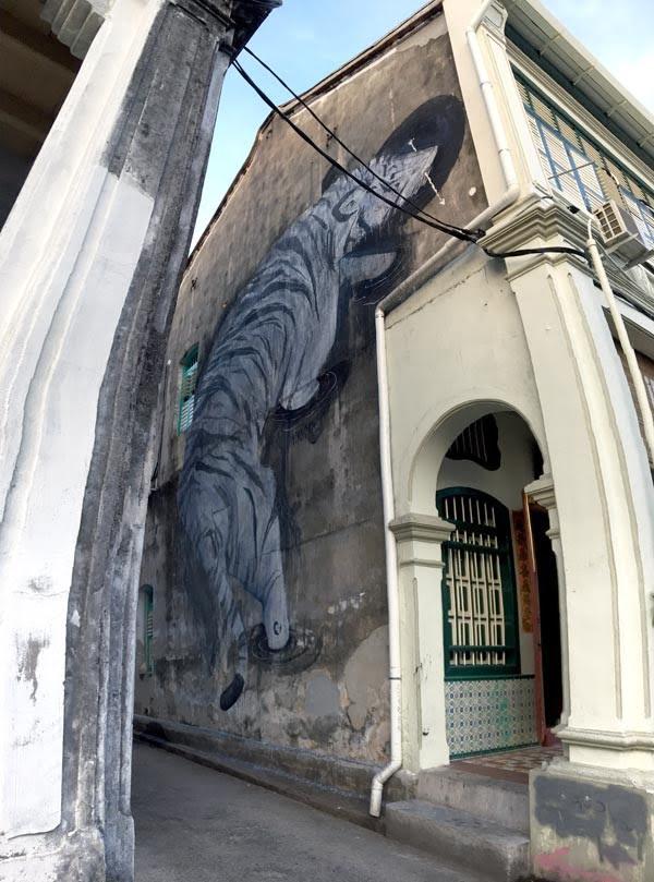 Penang Street Art - Lorong Stewart White Tiger Twoone