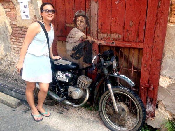 Penang Street Art - Old Motorcycle EZ
