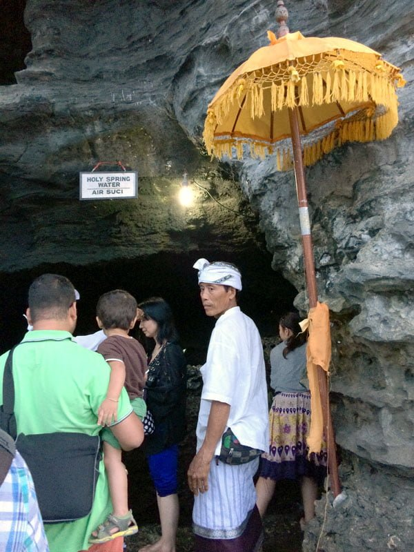 Bali Tanah Lot Holy Spring Water