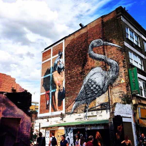 London Work Trip - Brick Lane Wall Street Art