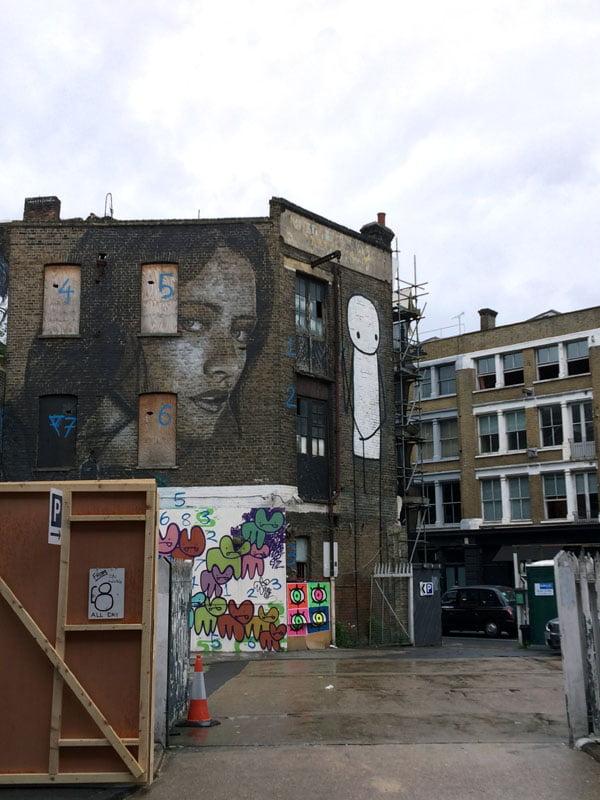 London Street Art - Stik Warehouse