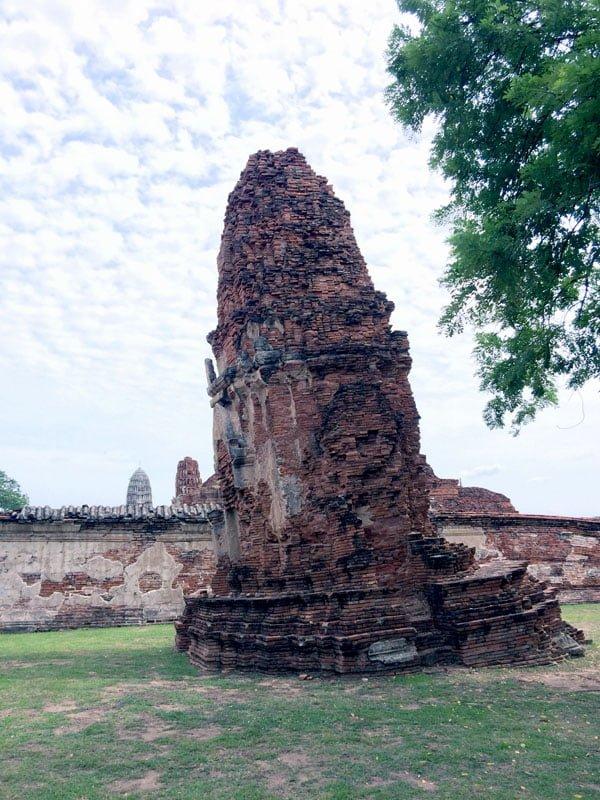 Ayuthaya - Wat Maha That leaning tower