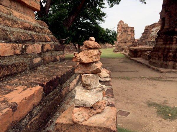 Ayuthaya - Wat Maha That stone pile
