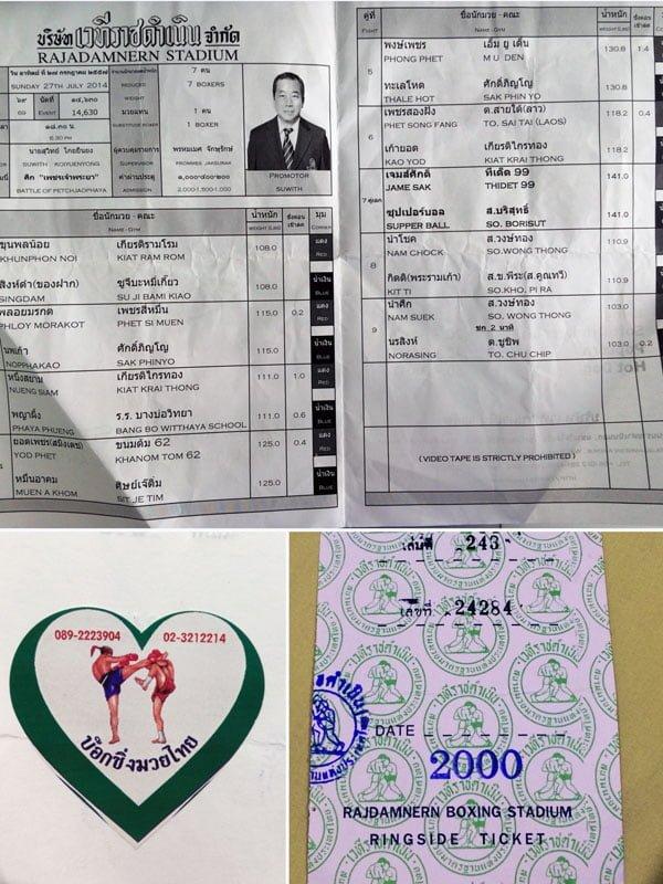Bangkok - Rajadamnern Stadium Ticket
