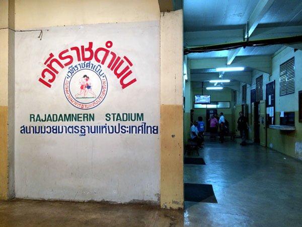 Bangkok - Rajadamnern Stadium Wall