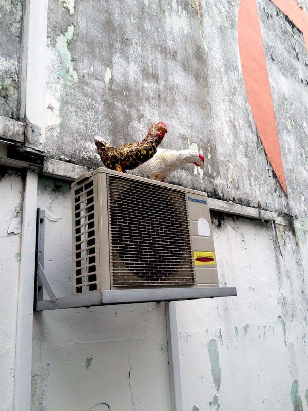 Singapore Street Art - Aliwal chickens
