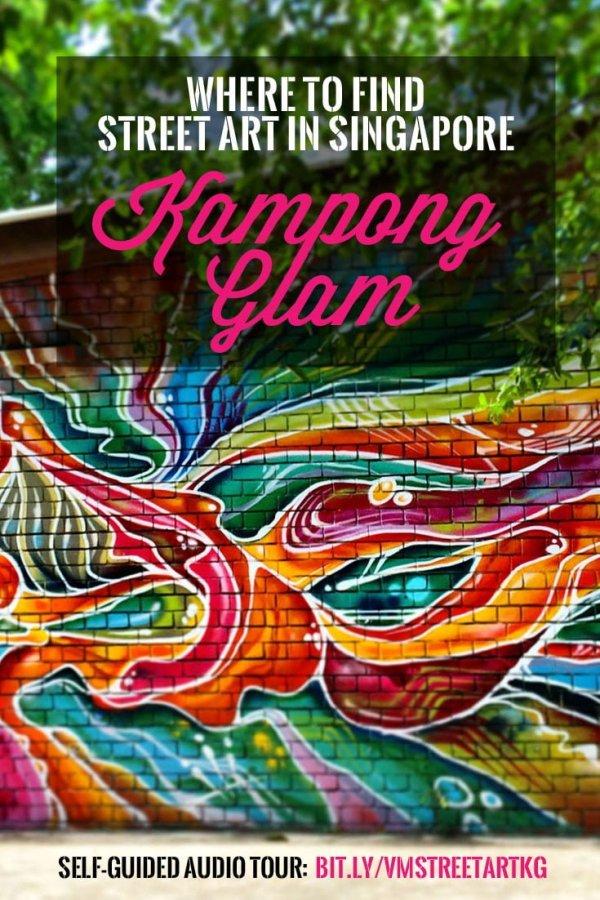 Singapore Street Art Kampong Glam Pin