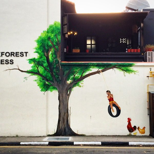 Singapore Street Art - Stuttgart Blackforest Tree Close up