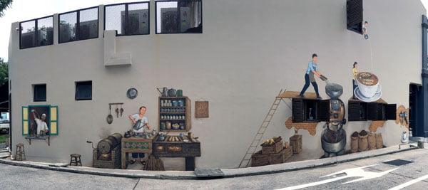 Singapore Street Art - YipYC coffee story