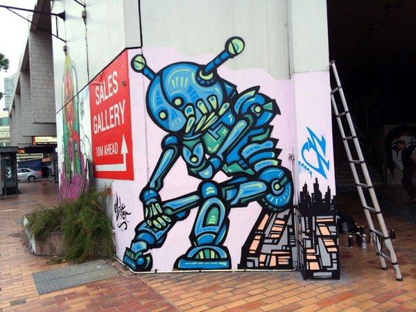 Eminent Takeover - Street Art Robot