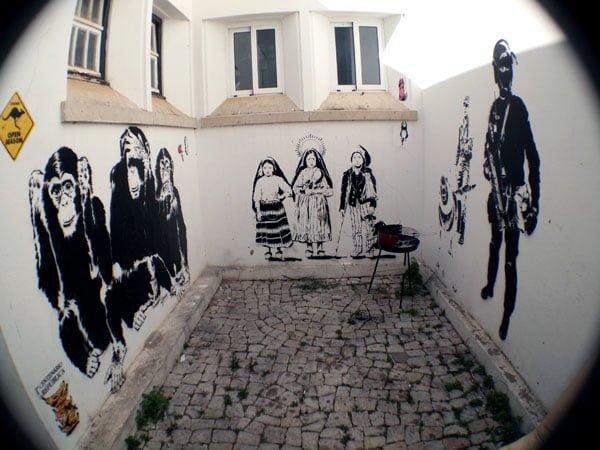 Portugal - Lagos Street Art LAC courtyard