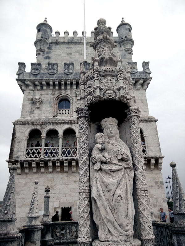 Portugal - Lisbon Belem Tower Statue