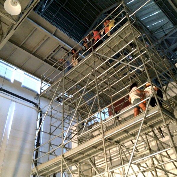 Portugal - Lisbon Belem Vhils Exhibition Scaffolding