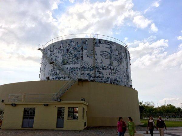 Portugal - Lisbon Belem Vhils Exhibition Water Tower