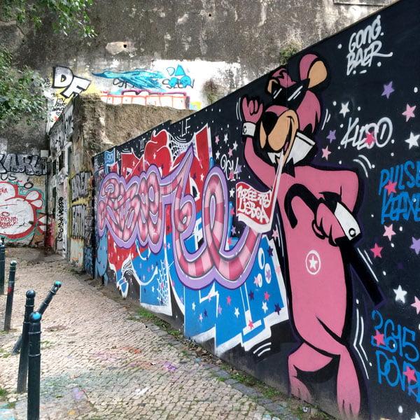 Portugal - Lisbon Street Art GAU Pink Panther