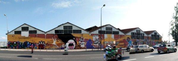 Portugal - Lisbon Street Art Santa Apolonia Wall