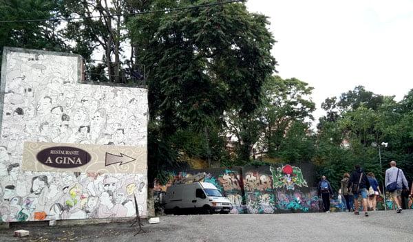 Portugal - Lisbon Street Art Teatro Maria Vittoria Walls