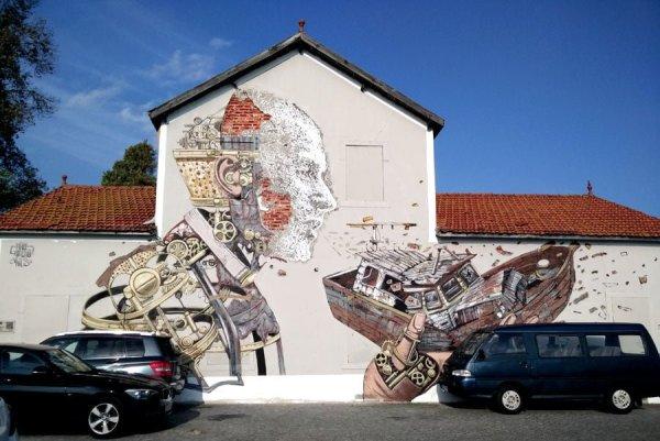 Portugal - Lisbon Street Art Vhils-Pixelpancho