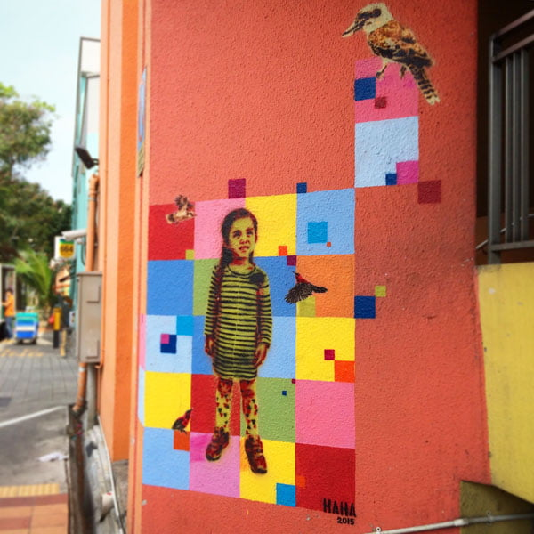 Singapore Street Art - Haha Cricket 2