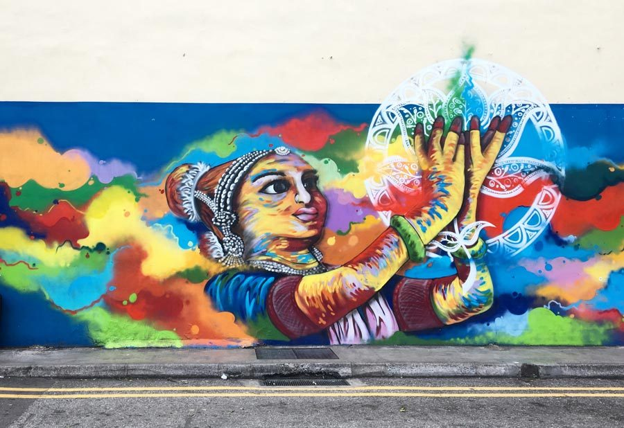 Singapore Street Art - Little India Clive Ts1