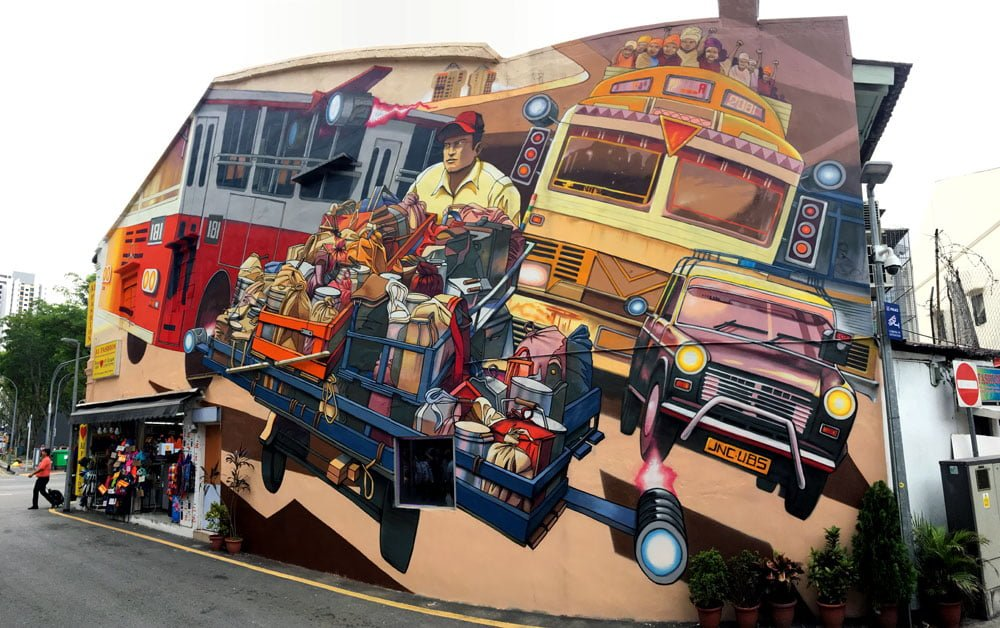 Singapore Street Art Little India Jaba Daily Delivery Complete