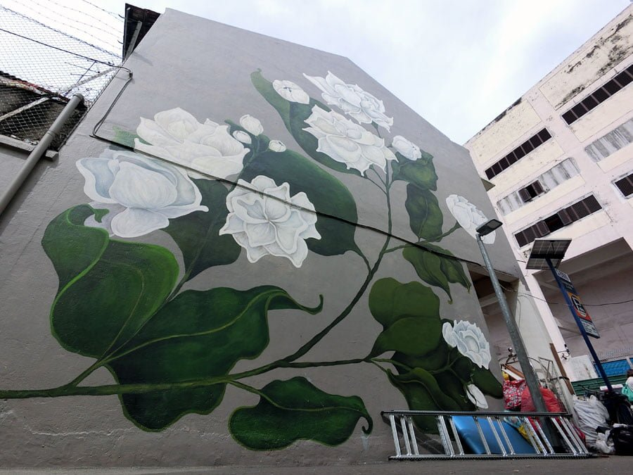 Singapore Street Art - Little India Jasmine Flower