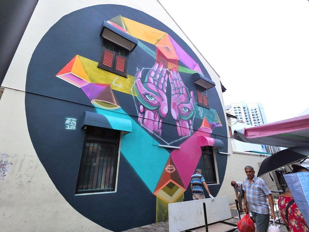 Singapore Street Art Little India Kerbau Zero Diff Fusion