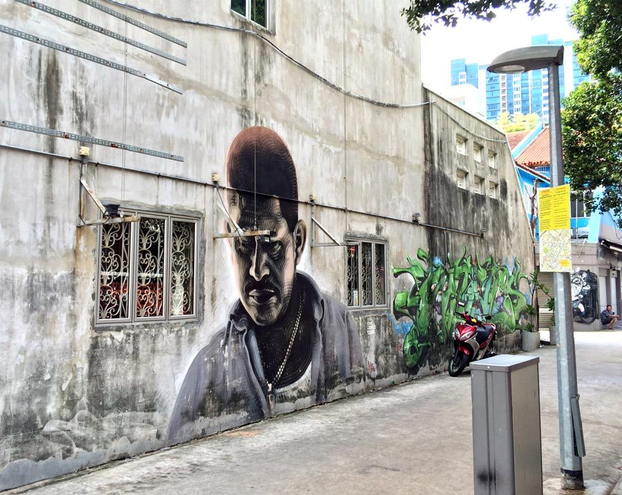 Singapore Street Art - Little India Rowell Alley