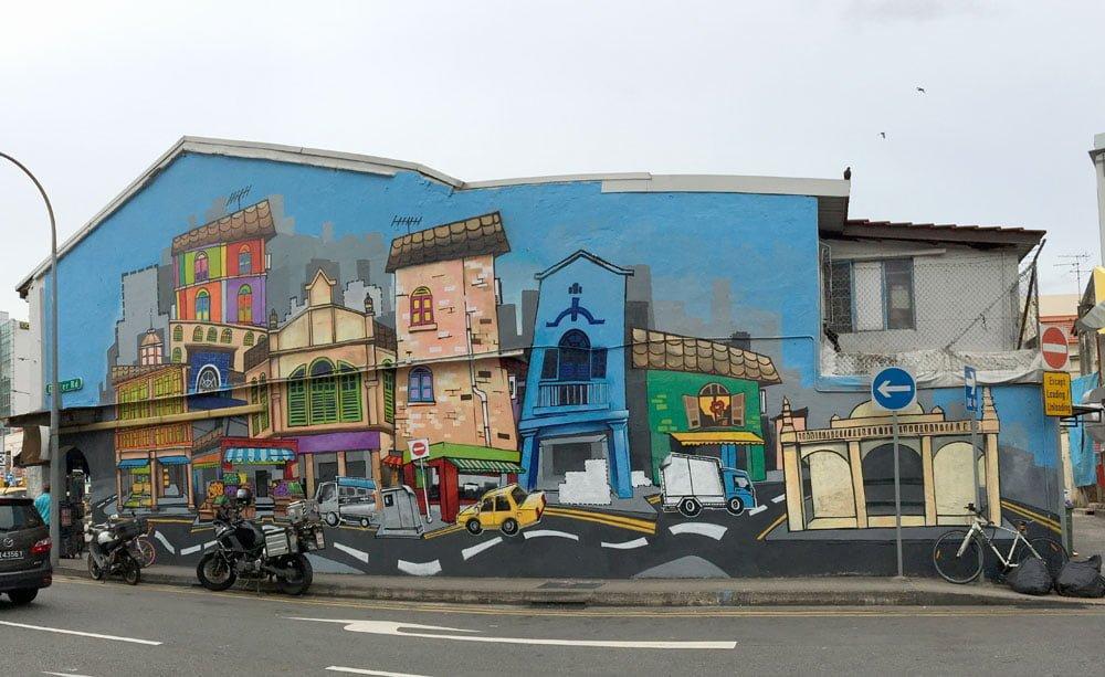 Singapore Street Art Little India Shah Rizzal Layers
