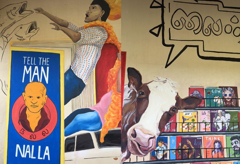 Singapore Street Art Little India Siyamala Bookstore Detail