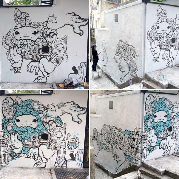 Hong Kong Street Art - Bao Progress