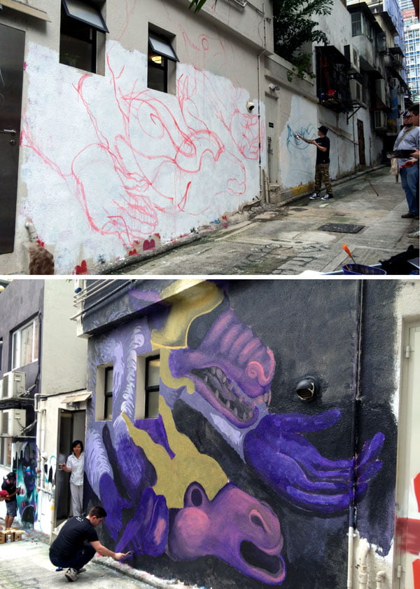 Hong Kong Street Art - Barlo Progress