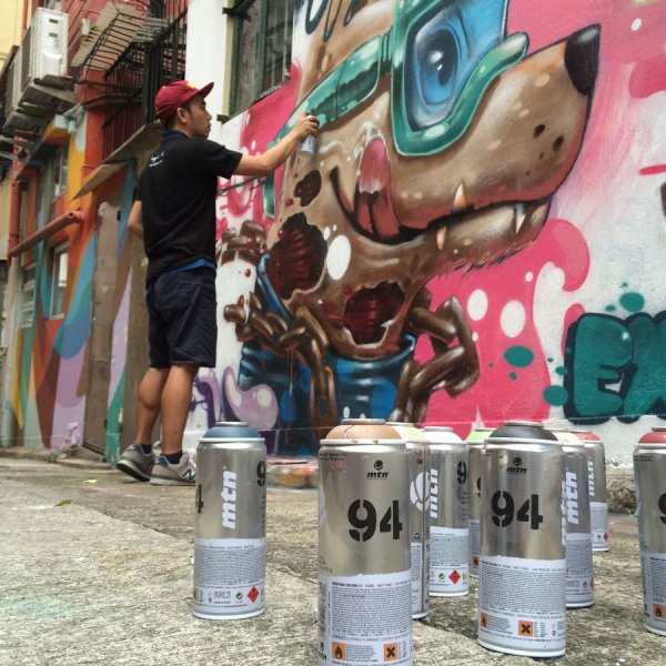 Hong Kong Street Art - exldmanila spray cans